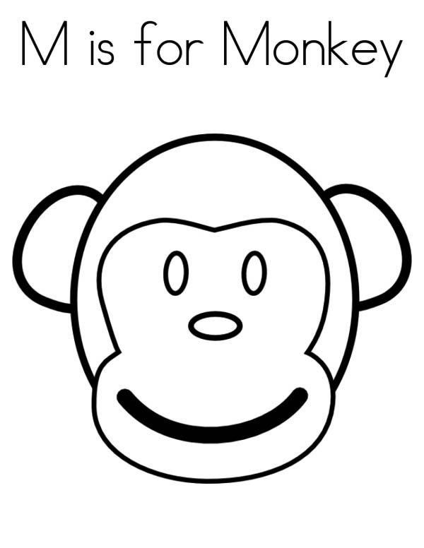 monkey face coloring page download amp print online coloring pages