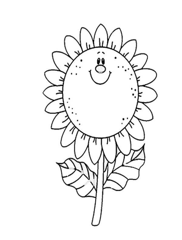 sunflower coloring page for kids download amp print online