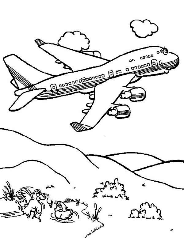 cartoon jumbo jet coloring page download amp print online coloring