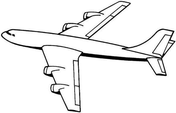four jet engines jumbo jet plane coloring page download amp print