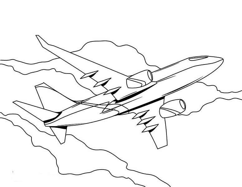 high altitude jumbo jet airline plane coloring page high altitude