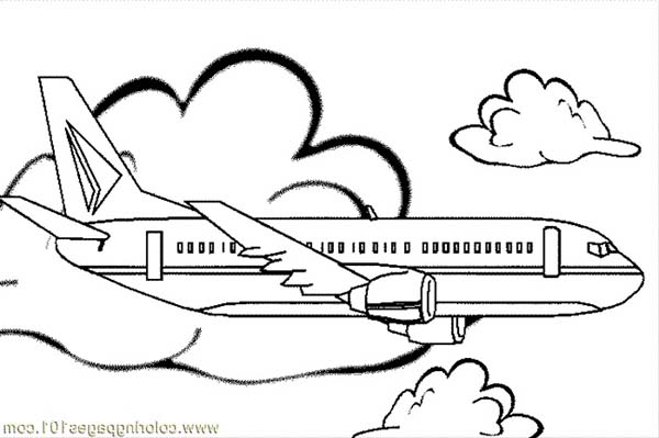 jumbo jet simple coloring for kids download amp print online