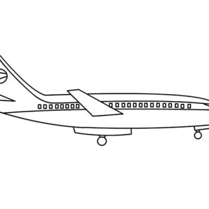 airline plane coloring page simple airline plane coloring page jpg