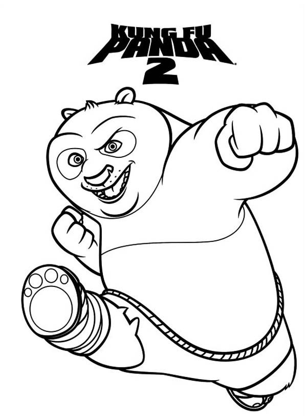 Amazing Dragon Warrior Of Kung Fu Panda Coloring Page