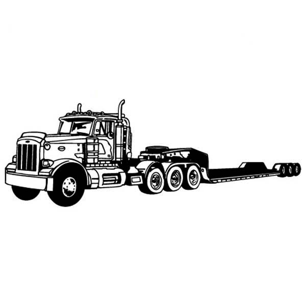 amazing long tail semi truck coloring page download amp print