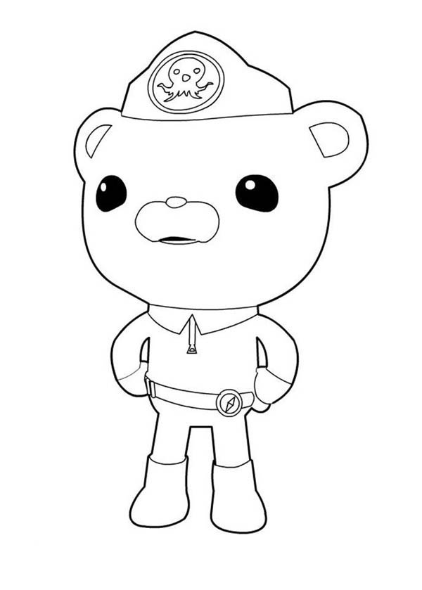 captain barnacles standing in the octonauts coloring page captain