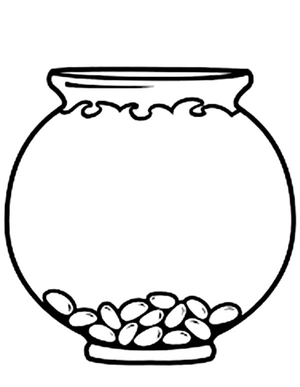 fish bowl empty fish bowl coloring page