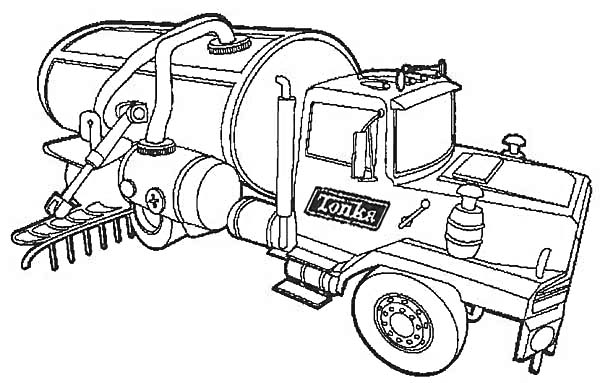 fresh water semi truck coloring page download amp print online