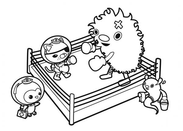 kwazii practice boxing in the octonauts coloring page download