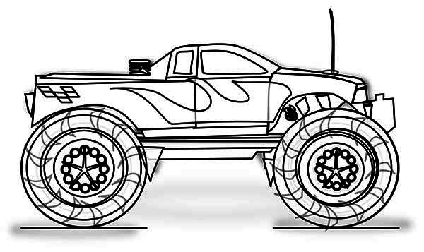 monster truck inferno coloring page download amp print online