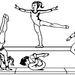 olympic gymnastic coloring page 300x300 gymnastics coloring pages