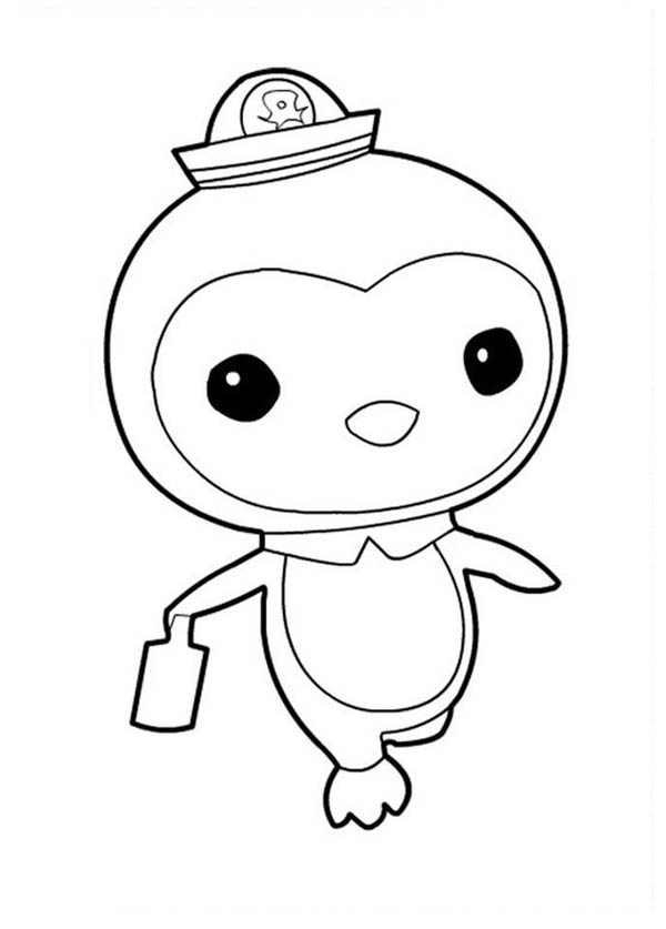peso penguin walking in the octonauts coloring page download