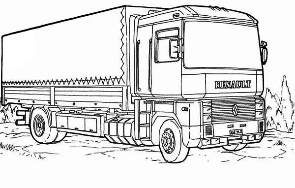 renault semi truck coloring page download amp print online