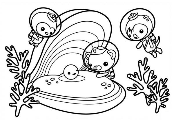 the octonauts meet sea shell coloring page download amp print