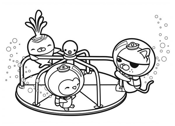 the octonauts playing together coloring page download amp print