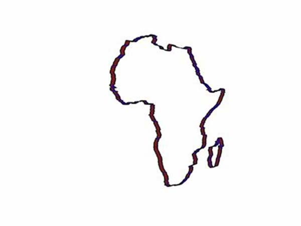 africa continent outline in world map coloring page download