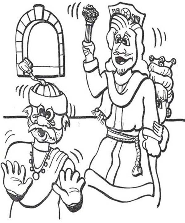 ahasuerus the king of persia in purim coloring page
