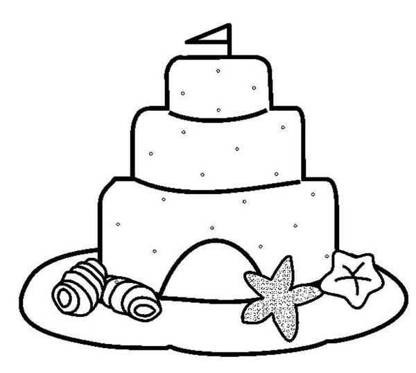 clamshell and sand castle coloring page download amp print online