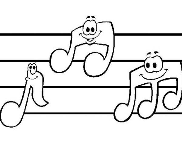 music notes smile coloring page music notes smile coloring page