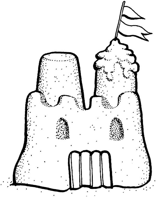 picture of sand castle coloring page download amp print online
