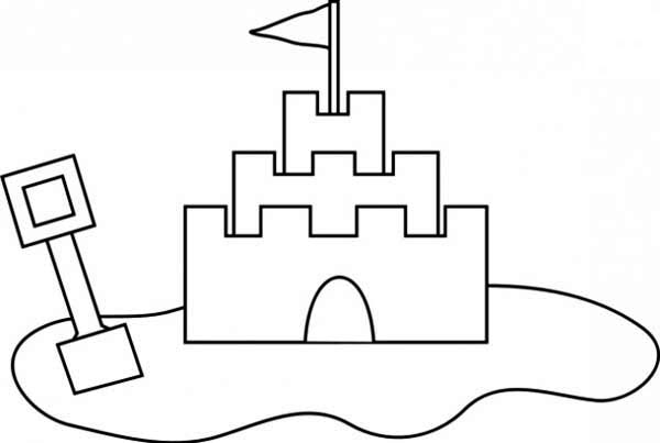 sand castle outline coloring page download amp print online