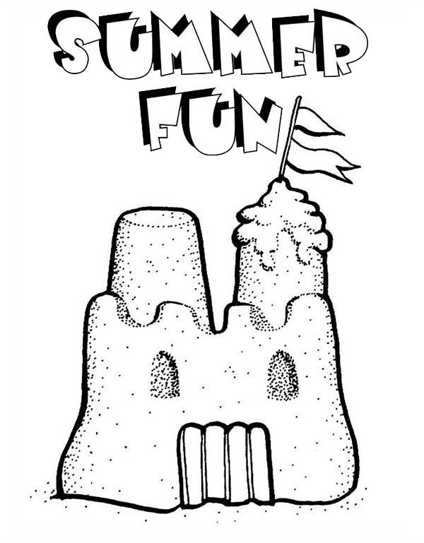 summer fun play sand castle coloring page summer fun coloring