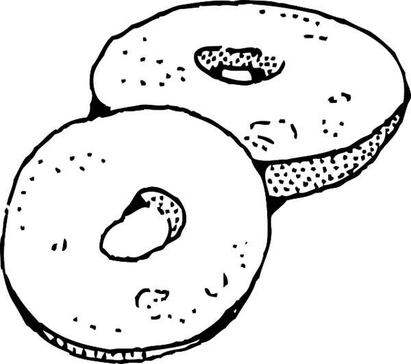 donuts junk food coloring page download amp print online coloring