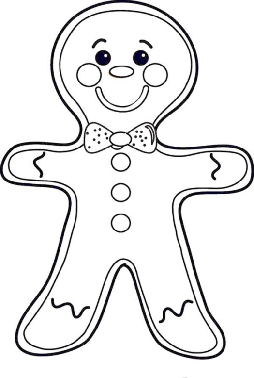 Coloring Page Of A Gingerbread Man