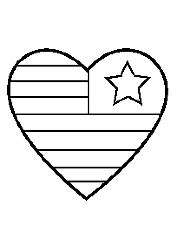 heart flag day coloring pages download amp print online coloring