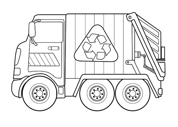 recycling garbage truck coloring pages download amp print online