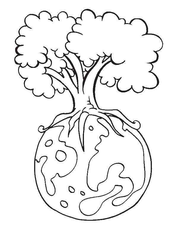 Save Our Forest On Earth Day Coloring Page Download