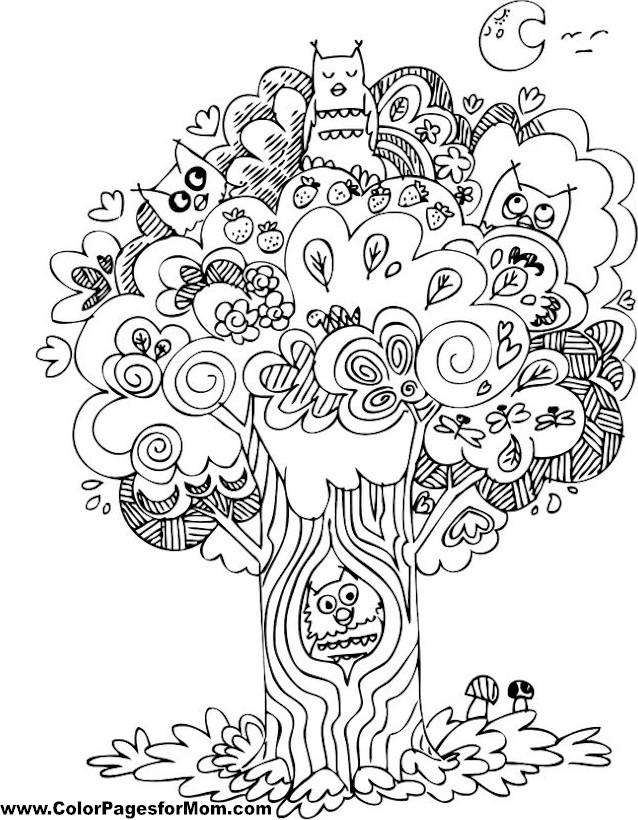 free birds and hearts coloring pages