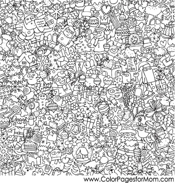 adult christmas coloring pages # 65