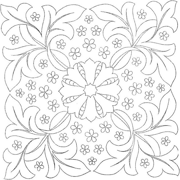 flowers 14 coloring page