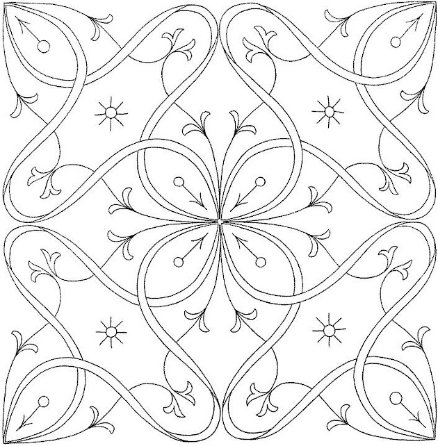 flowers 17 coloring page