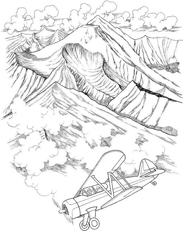 landscape coloring page 15 | Coloring pages winter, Coloring pages ... | 780x617