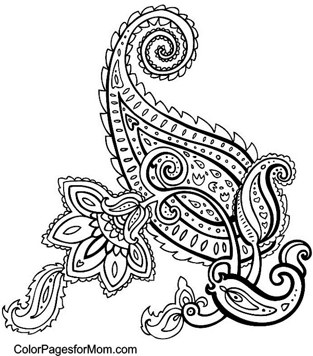 paisley coloring page 49