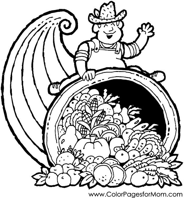 thanksgiving coloring page 2