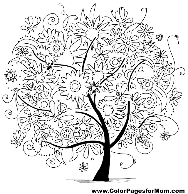 adult tree coloring pages cartoon island coloring page printable adult
