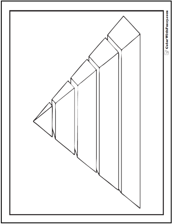 3D Coloring Pages Print And Customize