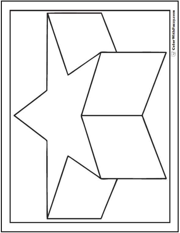 Shape Coloring Pages. coloring pages of basic shapes. coloring ...
