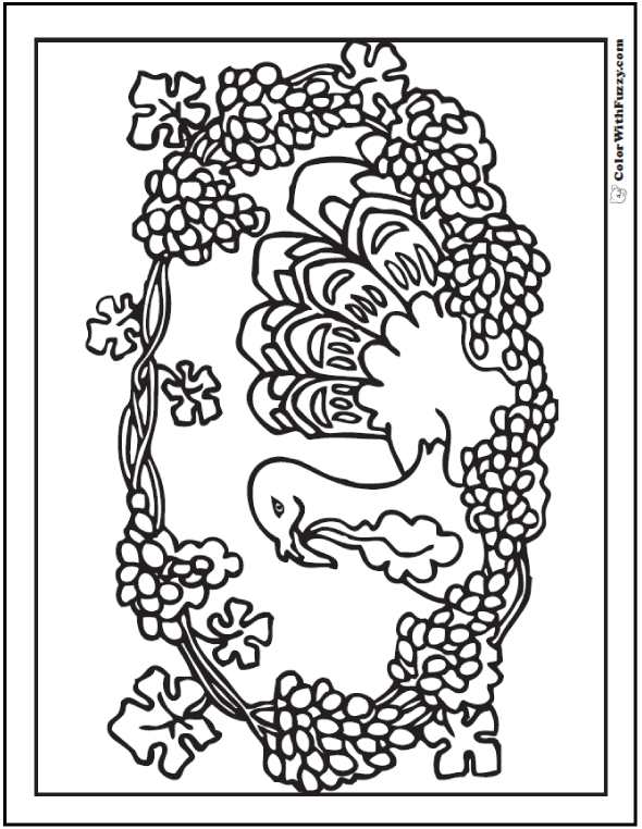 Autumn Harvest Coloring Page Fall Wreath Theme