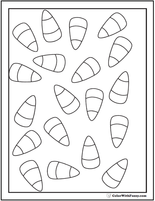 candy corn coloring pages - Corn Coloring Pages