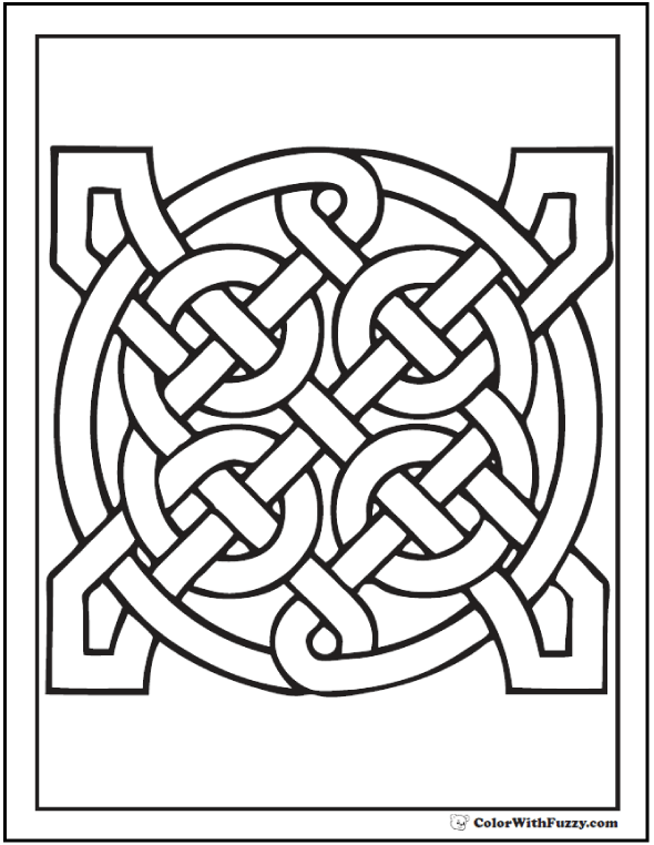 celtic pattern coloring pages geometric infinity