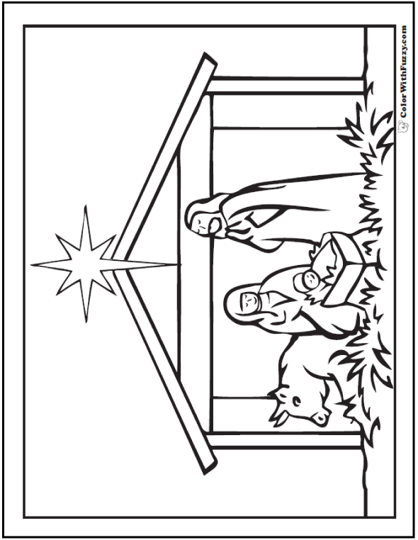 151 Christmas Coloring Pictures Nativity Scenes Merry Christmas