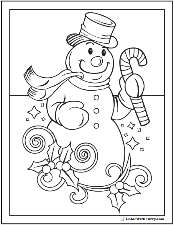 holidays christmas pictures christmas snowman coloring sheet