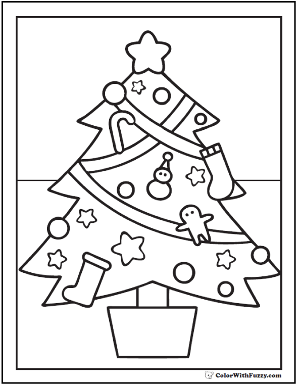 home holidays christmas trees christmas tree coloring page