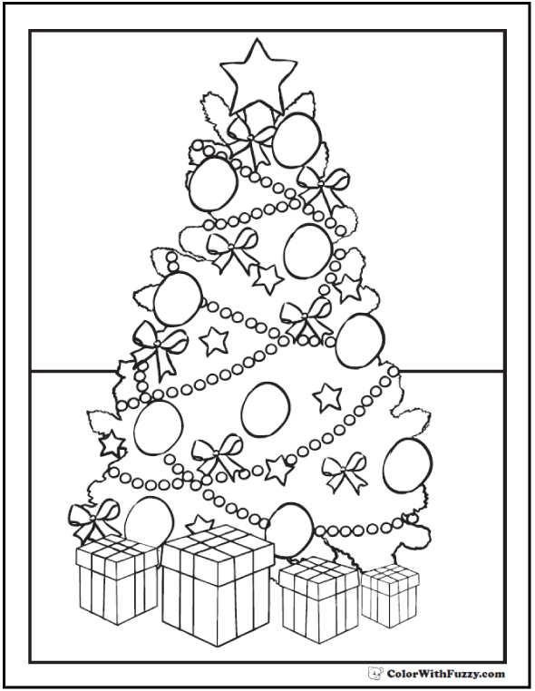 holidays christmas trees pretty christmas tree coloring pages