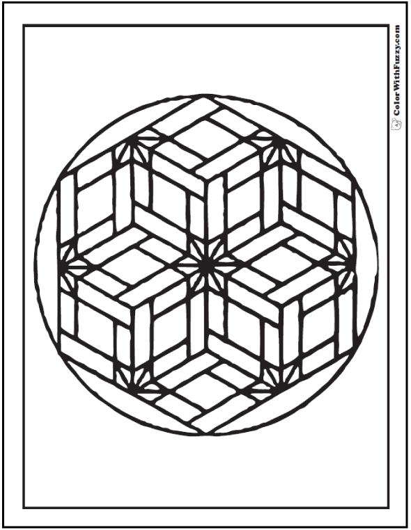 design coloring pages star flowers in basket weave mosaic pattern