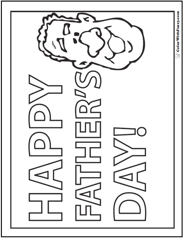 Happy Father S Day Coloring